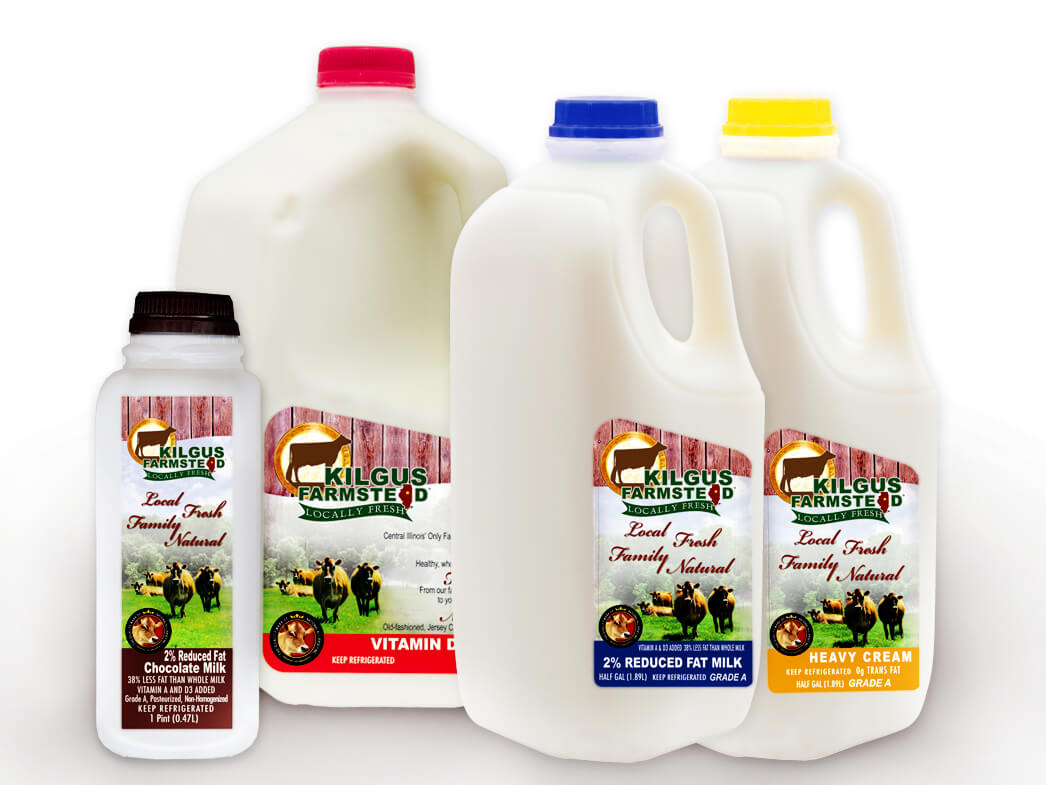 kilgus milk in jugs