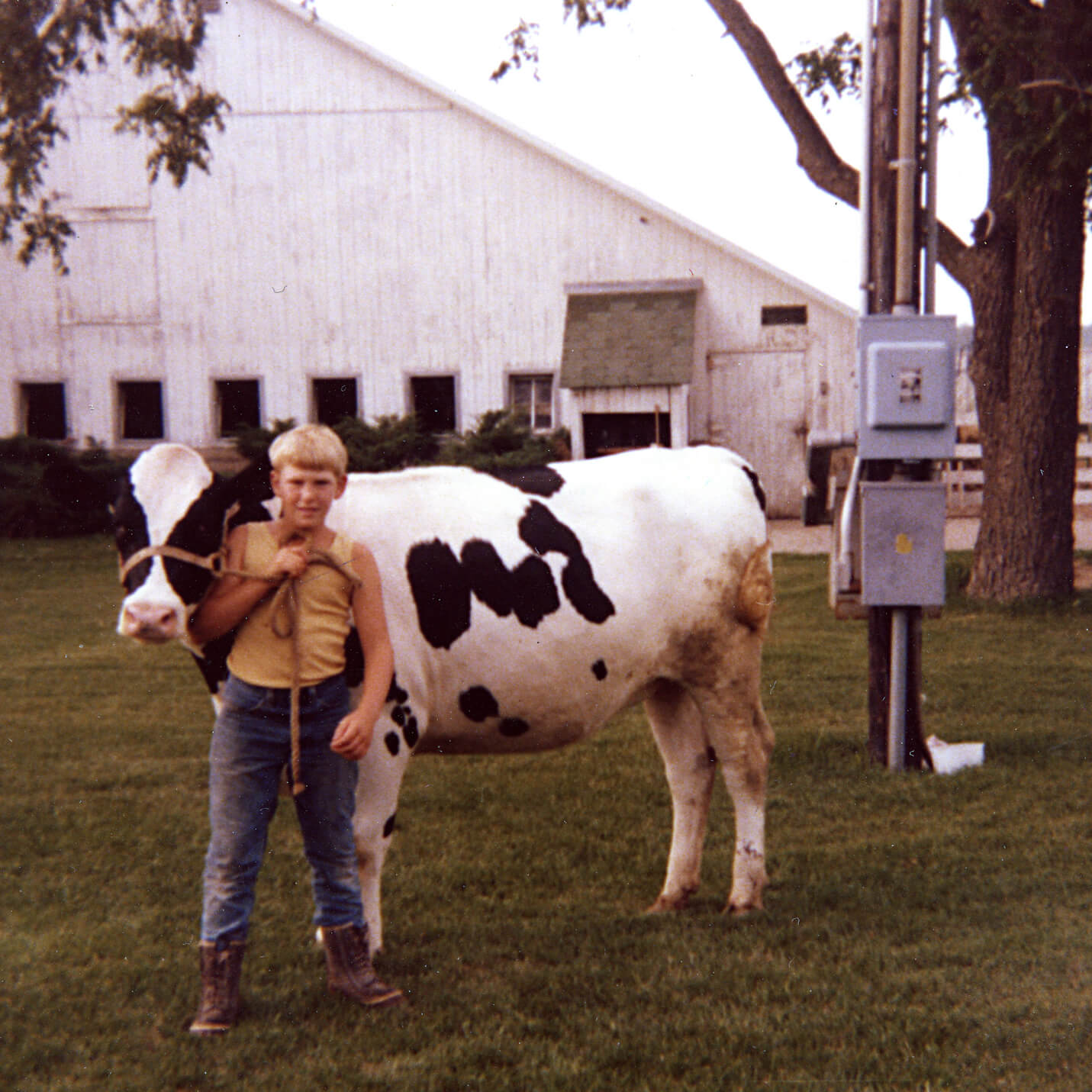 Paul Kilgus with Show Heifer