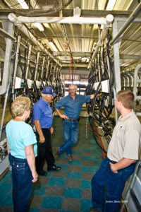 tour in milking parlor